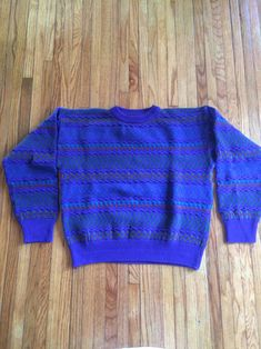 Vintage Colours by Alexander Julian Multicolored Heavy Weight Sweater by VintageVanShop on Etsy
