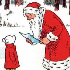 Rupert and Father Christmas Christmas Past, Father Christmas, Christmas Themes, Vintage Christmas, Bear Character, Comic Character, English Artists, Winter Photos, My Childhood Memories