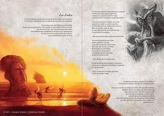 """""""Los Lulus"""".    VENADO - El arte de los Confines-  Textos de Liliana Bodoc, ilustraciones de Gonzalo Kenny."""