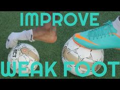 How to Improve Your Weak Foot & Touch in Soccer or Football - Weaker foot training & drills Soccer Workouts, Soccer Drills, Soccer Coaching, Soccer Training, Top Soccer, Soccer Stars, Soccer Boys, Football Soccer, College Football