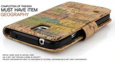 Geography Vintage Premium Diary Case for LG Optimus L9