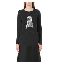 MARKUS LUPFER - Natalie pug sequin knitted jumper | Selfridges.com