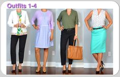 (outfits 1-4) one suitcase: summer business casual capsule wardrobe | Outfit Posts