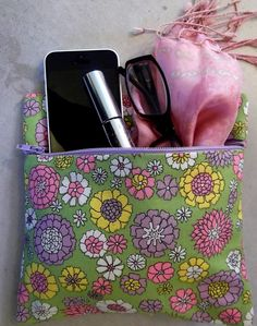 Fabric Zipper Pouch Clutch Bag made of Vintage by edieandglo, $15.00