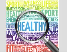 Healthy living word cloud with magnifying glass, health concept stock photo - 51541844 Womens Wellness, Health And Wellness, Health Care, Healthy Diet Recipes, Healthy Life, Healthy Living, Nutrition Program, Kids Nutrition, Depression Awareness Month