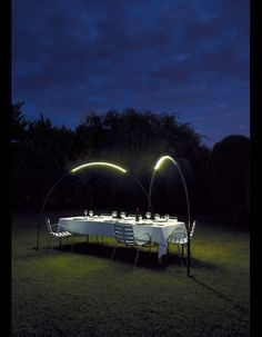 outside party lighting   Modern Outdoor Dinner Party Lighting
