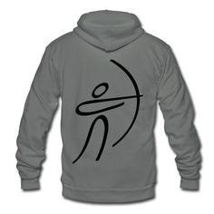 Olympic Archery Zip Hoodie | Spreadshirt | ID: 10150816