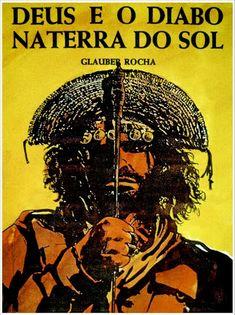 CARTELES DEL CINEMA: DIOS Y EL DIABLO EN LA TIERRA DEL SOL (Deus e o Diabo na Terra do Sol, 1964), de Glauber Rocha