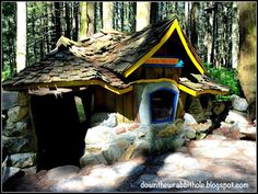 """The home of the Three Bears at the Enchanted Forest in British Columbia, Canada. Find out more at """"Down the Wrabbit Hole - The Travel Bucket List"""". Click the image for the blog post."""