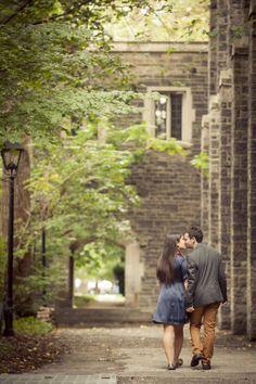 Toronto Wedding & Engagement Photography. Lovely couple at University of…