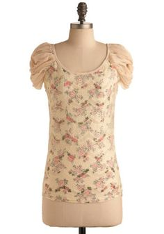 Very feminine; late Spring, early Summer - looks very garden-party-ish.  $48.00