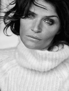 Helena Christensen by Peter Lindbergh for Vogue Italia 2015