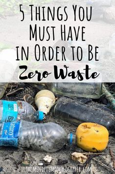5 Things You Must Have in Order to Be Zero Waste (that aren't actually things) | The Mindful Mom Blographer