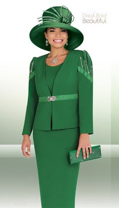 BM47652 - $269 PRICE INCLUDES MATCHING HAT AND BAG!  #Sale #AmazingDeal #KellyGreen #SleeveDecor