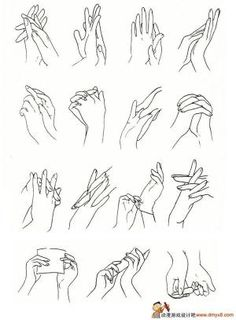 Drawing inspiration from the different positions the hands are in. I would like to do some primary source drawings of hands in different positions and these are some ideas of positions I could experiment with. Hand Drawing Reference, Drawing Hands, Drawing Skills, Drawing Lessons, Drawing Poses, Manga Drawing, Drawing Techniques, Drawing Tips, Figure Drawing