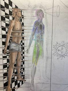 Arte Hippy, Spiritual Drawings, Psychedelic Drawings, Funky Art, Hippie Art, Human Art, Visionary Art, Surreal Art, Aesthetic Art