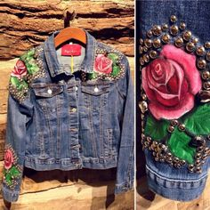 Custom Clothes, Denim Shorts, Arts And Crafts, Boho, How To Wear, Outfits, Witch Coven, Denim Jackets, Blazers