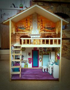 amazing wood doll hause with furniture. Without nails. https://vk.com/decordom_tsk