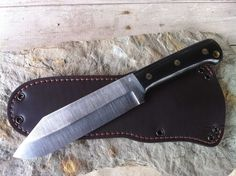 "Blind Horse Knives Lumberjack Toothpick... Stats - Size 12 1/8"" OAL -    Cutting edge 6 3/8"" -     Handle 5"" -     3/16"" thick stock -     1 1/4 lbs of knife -   	    01 Tool Steel -     Sharpened spine (for throwing a nice spark) -     Large lanyard hole -     2 Handle color choices -     2 Handle finish options."