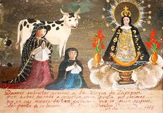 We thank the Virgin of Zapopan for healing our spotted cow. She was so sick after giving birth to her calf, we thought she was going to die.