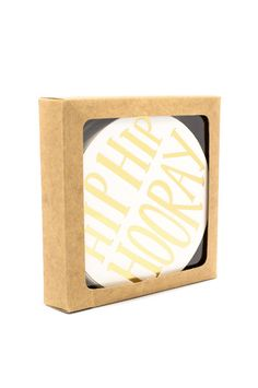 Hip Hip Hooray! Coasters Set of 12 for $20