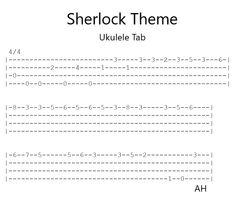 I arranged some Sherlock tab for ukulele have fun : ) Ukulele Tabs Songs, Ukulele Fingerpicking Songs, Ukulele Songs Beginner, Music Tabs, Guitar Songs, Guitar Chords, Music Notes, Uke Tabs, Criminology