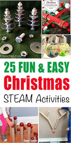 Here is a list of amazing ways to play and learn about science this Holiday. These easy Christmas STEAM activities are great for toddlers and preschoolers. Steam Activities, Christmas Activities, Christmas Themes, Activities For Kids, Simple Christmas, Kids Christmas, Bubble Christmas Lights, Brain Craft, Christmas Puzzle