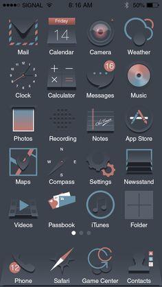 #icons #icon #app #interface #dark #ios #design Gfx Design, Design Ios, App Icon Design, Flat Design Icons, Design Thinking, Android Design, Computer Icon, Custom Icons, Iphone Icon