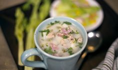 Now Go Cook Homemade Clam Chowder, Fortune Cookie, Clams, Cheeseburger Chowder, Soup, Gluten Free, Cooking, Ethnic Recipes, Glutenfree