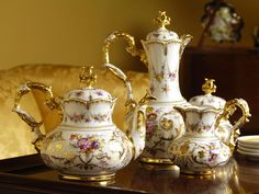 During Victorian times most folks had a chocolate pot instead of a coffee pot with their tea set.