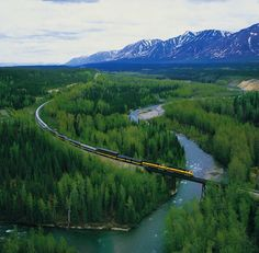 Alaska National Parks by Rail, Alaska Railroad: a six-day train trip, which traverses both Denali and Kenai Fjords National Parks.- may be my ultimate dream trip Train Travel, Travel Usa, Train Trip, Train Rides, Dream Vacations, Vacation Spots, Dream Trips, Places To Travel, Places To See