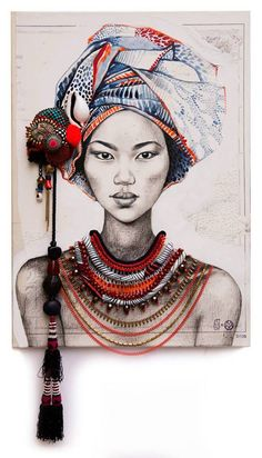 Discover The Secrets Of Drawing Realistic Pencil Portraits Art And Illustration, Art Illustrations, Draw Realistic, Art Sketches, Art Drawings, Art Du Collage, Art Du Croquis, Embroidery Art, African Art