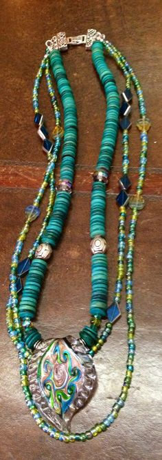 New Three Strand set from Peacock Creations! Follow our shoppe on Facebook. Silver Schnauzer Antiques
