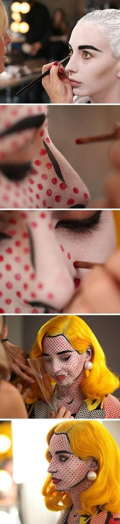 Comic Makeup Halloween