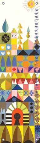 """Oopsy daisy, Fine Art for Kids presents Disney® """"It's a Small World - Magic Facade"""" Growth Chart $54"""