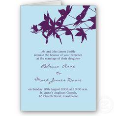 Wedding colors. Deep purple and light blue. I really like this