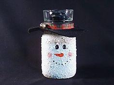 Mason Jar Snowman :) How cute!