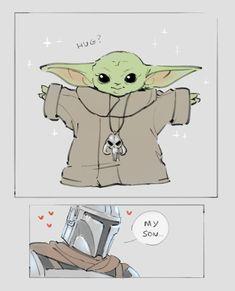 I'd die for Baby Yoda. I'd kill for Baby Yoda. Most importantly, I'd stay alive for Baby Yoda. Star Wars Fan Art, Star Wars Witze, Star Wars Jokes, Star Wars Comics, Star Wars Baby, Cuadros Star Wars, Yoda Meme, Cute Disney, Disney Ears