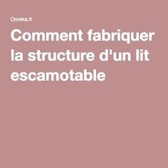 bricolage fabriquer un lit escamotable conseils des bricoleurs du forum diy pinterest lit. Black Bedroom Furniture Sets. Home Design Ideas