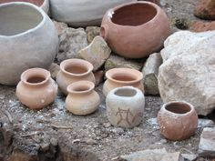 Pottery made at our pottery workshop.  Fremont Indian State Park and Museum, Utah.