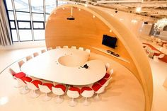 Saatchi  Saatchi's conference room exhibits creativity and innovation