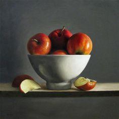 """""""Bowl of Apples"""" - Original Fine Art for Sale - © Michael Naples"""