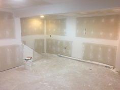 DIY Finished Basement - Finishing drywall