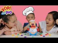 Fun Family Board Game Challenge POP THE PIG Feed The Pig Watch Him Pop C...