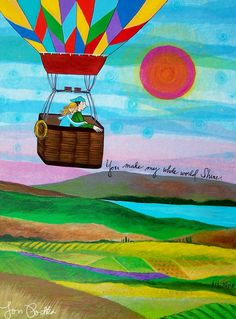 I have never been in a hot air balloon but I think it would be gorgeous and peaceful (if I wasn't too afraid!)