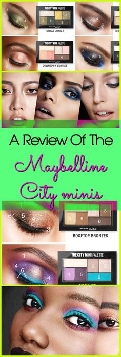 An Extremely Detailed Review Of The Maybelline City Minis - Sophie-Sticated Mom - In this post I am going to do a details makeup review on the Maybelline city minis. In this post you can check out the makeup looks that I created with these affordable makeup palettes.  This Maybelline New York Eyeshadow palettes are really pigmented and these City sets also show up well on dark skin. Click to read more.