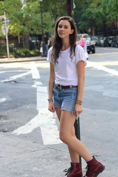 Doc Martens with shorts or babydoll dresses