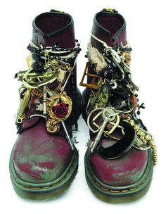 Doc Martens 1460 customized by Preen - there's either something very tank girl about these. #90s #boots #grunge #custom