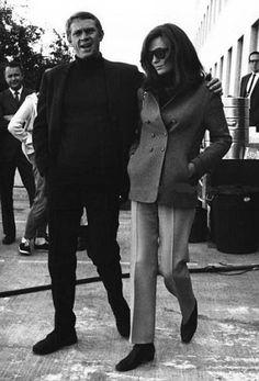 Steve McQueen, Jacqueline Bisset | Back Set of Bullitt | 1968 | as Frank Bullitt
