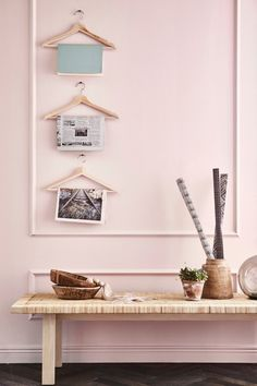 The IKEA BUMERANG hanger, made of solid wood, adds a genuine sense of quality to your wardrobe.